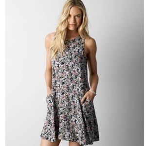 American Eagle Floral Tank Dress w/ Pockets